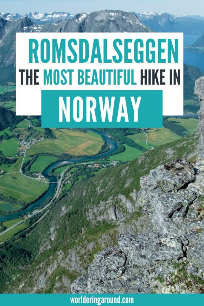 Romsdalseggen Ridge - an epic hike in Norway. Discover one of the most beautiful hikes in Norway in Andalsnes, mountaineering capital of Norway, Norway fjords, hiking in Norway, Norway hikes #hiking #norway #andalsnes #outdoors #worlderingaround