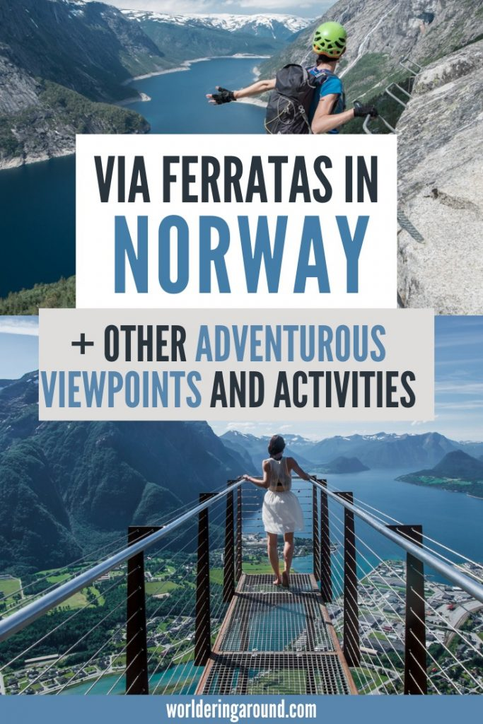 Go on an arctic adventure in Norway. Try via Ferrata in Norway, as well as other adventurous viewpoints and activities that will make your heart beat faster. Perfect for outdoor adventure lovers, and everyone who likes Scandinavia. #Norway #scandinavia #viaferrata #mountains #adventure #outdoors #viewpoints