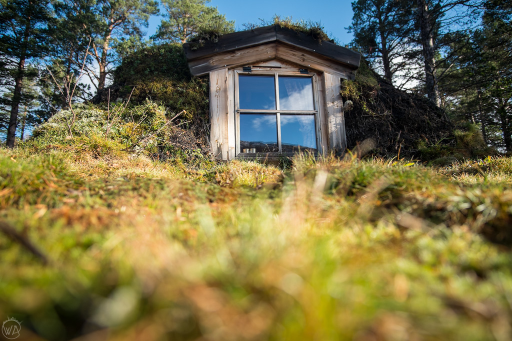 Hobbit cabin in Norway window