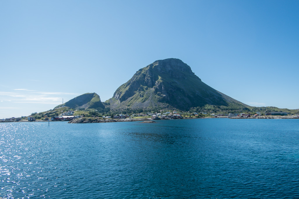 Lovund island, Norway, seen from the boat