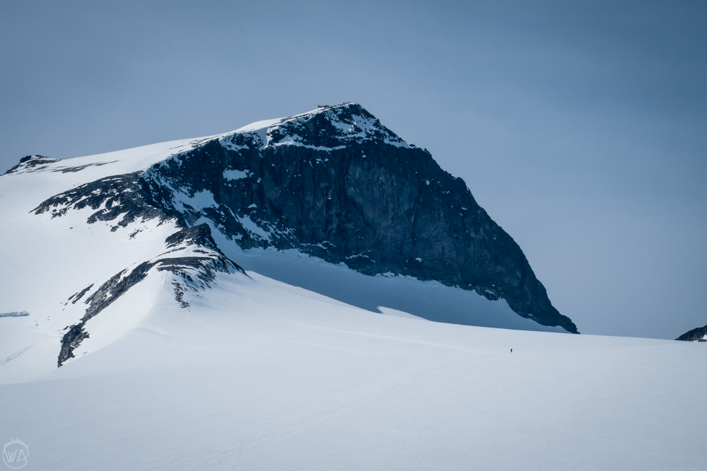 Crossing Styggebreen glacier on the way to Galdhopiggen