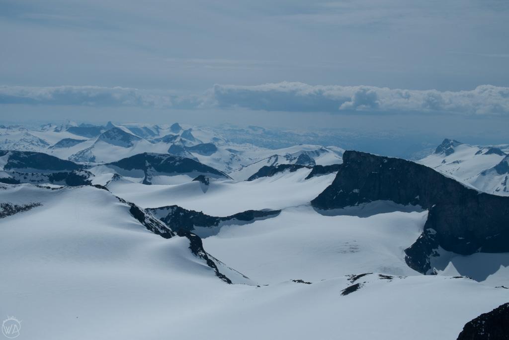 Jotunheimen National park as seen from Galdhopiggen