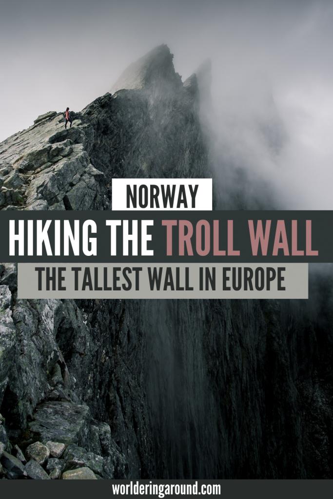 Hiking the Troll Wall in Norway, the tallest vertical wall in Europe, Trollveggen #Norway