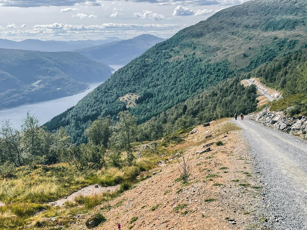 Gravel road return from Loen via ferrata